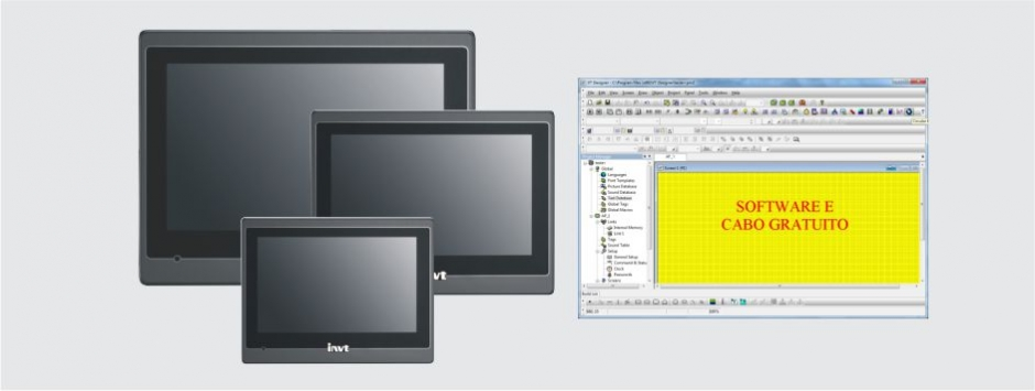 IHM TOUCH SCREEN COLOR - INVT